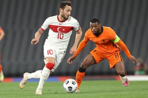 Turkey and AC Milan playmaker Hakan Calhanoglu