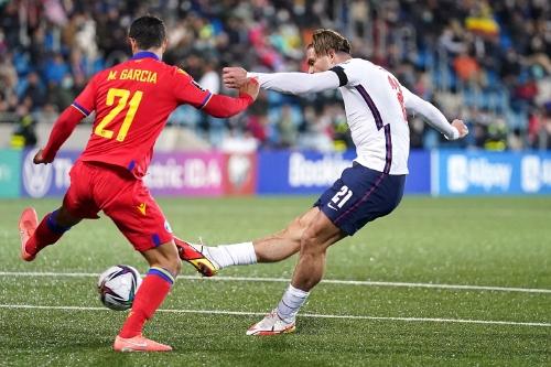 Jack Grealish goal for England vs Andorra Oct21
