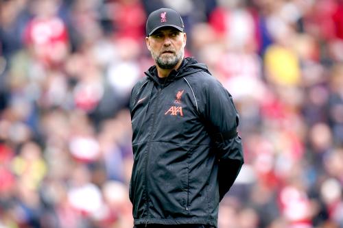Le manager de Liverpool Jurgen Klopp avant le match de Premier League à Anfield, Liverpool