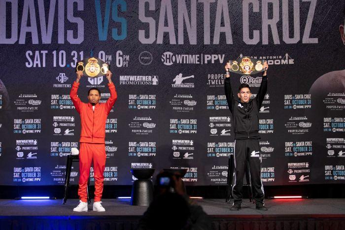Gervonta Davis and Leo Santa Cruz get ready for their PPV clash this weekend