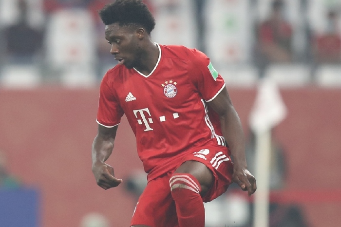 Alphonso Davies in action during the World Club final in Qatar
