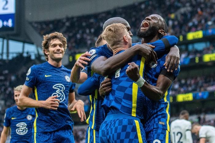 Chelsea celebrate a goal in the Premier League