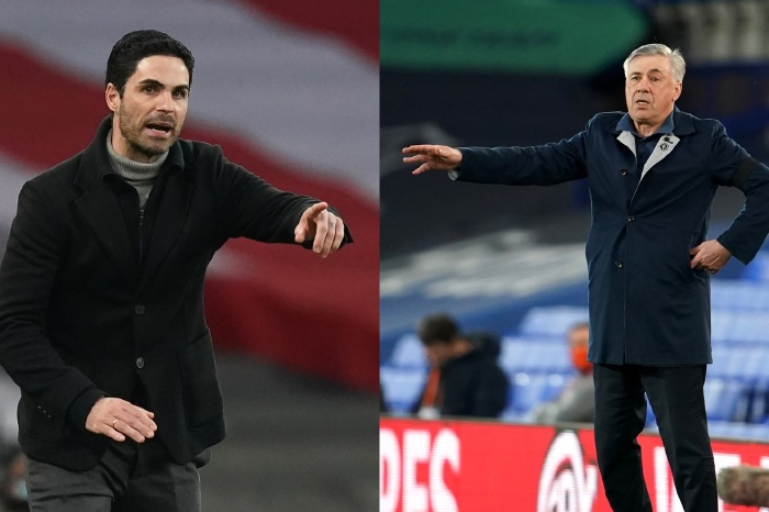 Mikel Arteta and Carlo Ancelotti