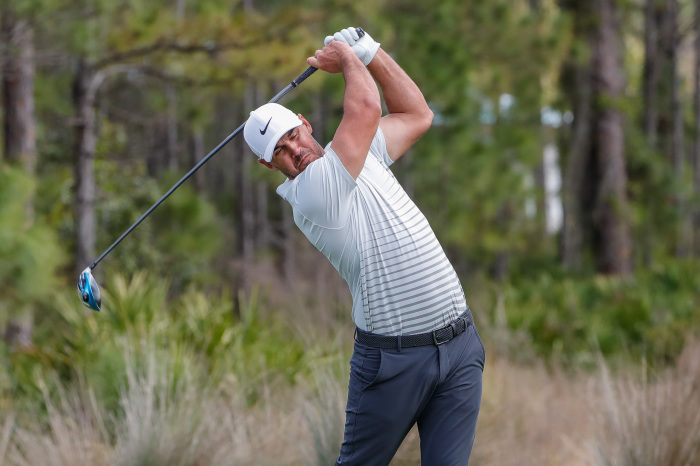 Brooks Koepka is in a strong position with 18 holes to play.