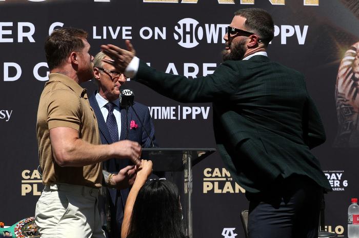 I quite enjoyed Canelo's scuffle with Plant, says Eddie Hearn