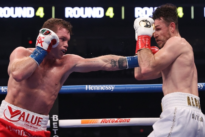 Canelo Alvarez beat Callum Smith in December 2020 to gain the WBC and WBA super middleweight titles