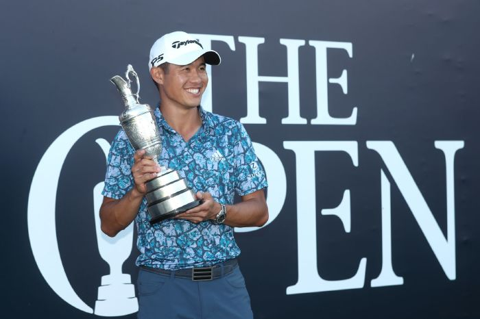 Collin Morikawa seals thrilling two-shot victory on Open debut