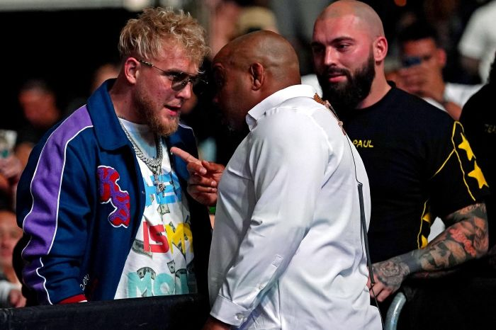 Jake Paul and MMA legend Daniel Cormier in heated exchange at UFC 261