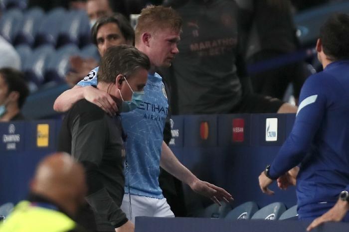 De Bruyne limps off against Chelsea