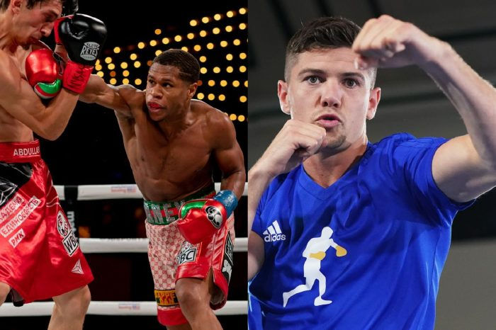 Devin Haney and Luke Campbell have clashed on social media on Tuesday