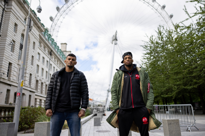 Douglas Lima and Michael Page during their tour of London before Bellator 267, Wembley SSE Arena. Bellator MMA/Will Fox.