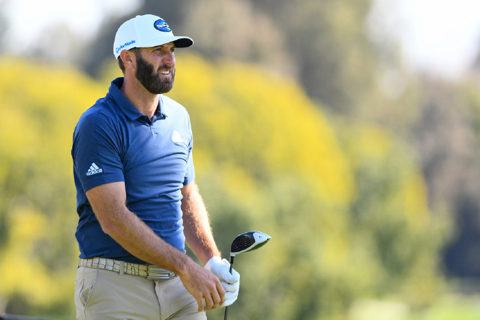 Dustin Johnson carded a 3-under-par 68 in round one at Riviera.