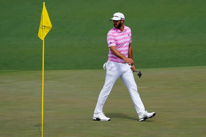Dustin Johnson in action on day one