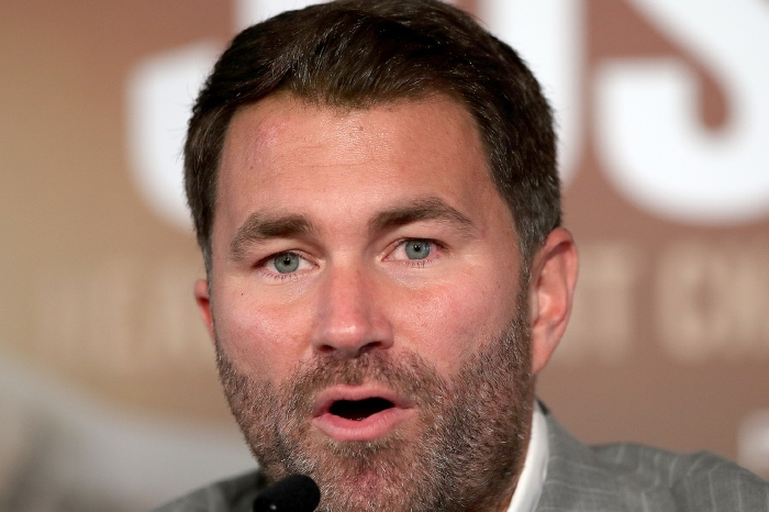 Eddie Hearn is trying to organise a deal for Dillian Whyte to face Deontay Wilder next