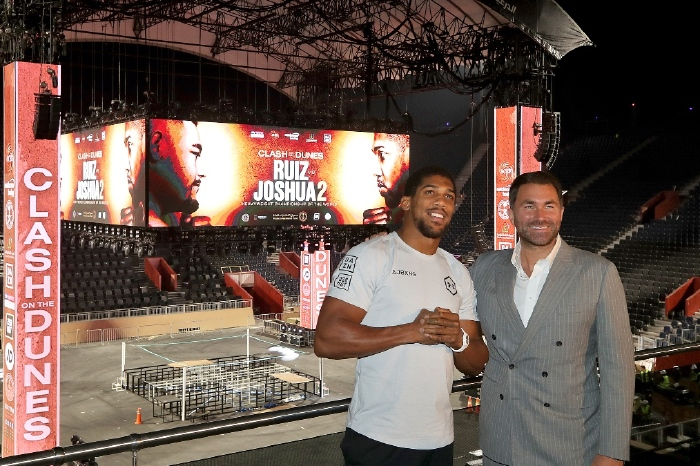 Eddie Hearn says Anthony Joshua's bout with Tyson Fury is 'as done as it can be'