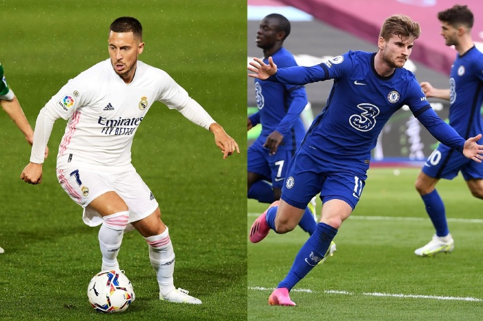 Eden Hazard could feature against his old employers, Chelsea