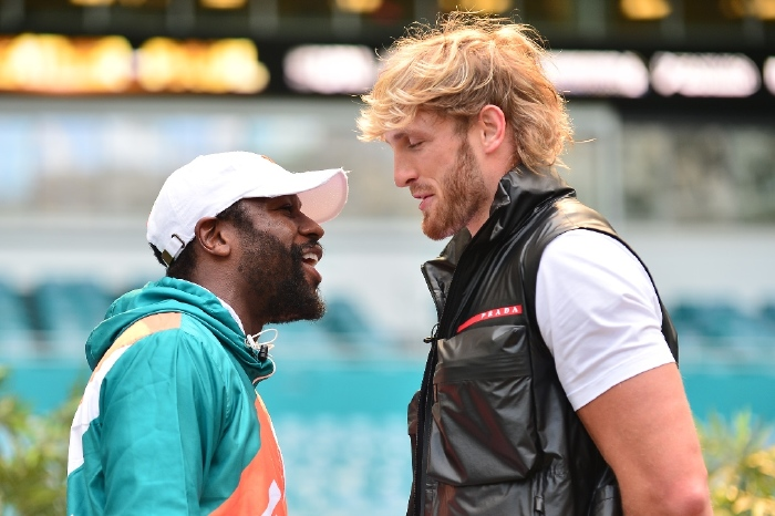 Logan Paul takes on Floyd Mayweather in just his second professional fight on Monday morning