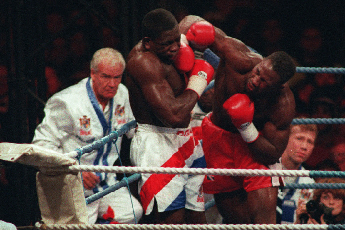 Here we take a look at Lennox Lewis vs Frank Bruno for the world heavyweight title