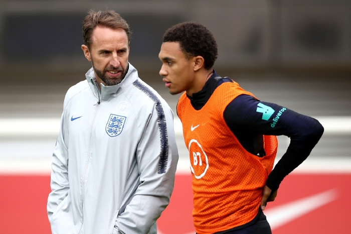 Gareth Southgate looks set to leave Trent Alexander-Arnold out of his final 26 for Euro 2020