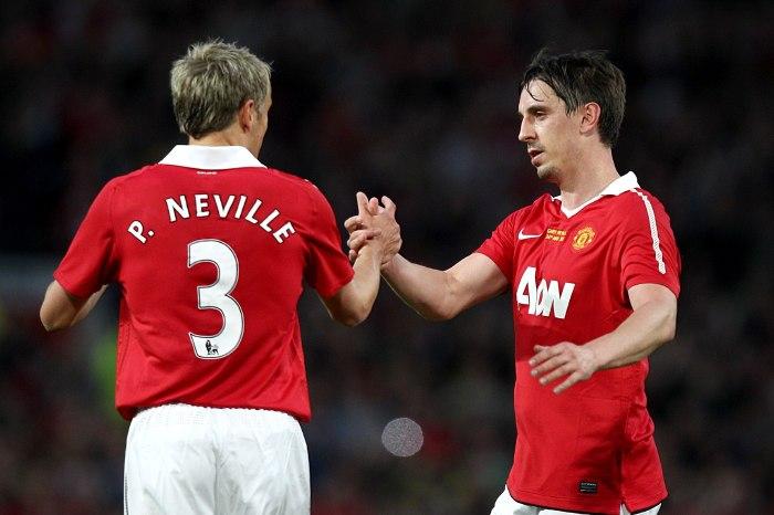 Gary Neville, Phill Neville, Manchester United