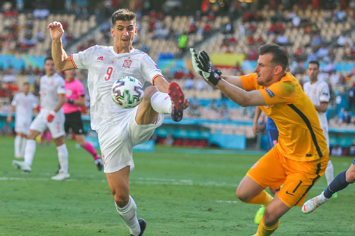 Gerard Moreno in action for Spain