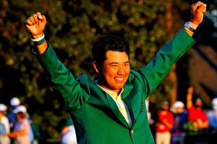 A happy Hideki Matsuyama