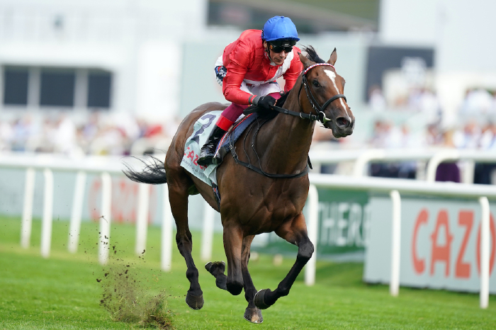 Inspiral wins the May Hill Stakes at Doncaster