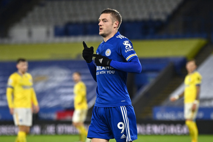 Jamie Vardy already has five goals against the Seagulls