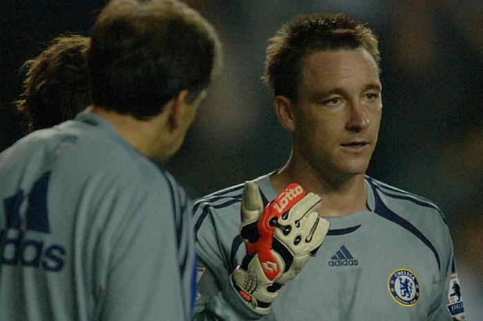 John Terry in goal for Chelsea