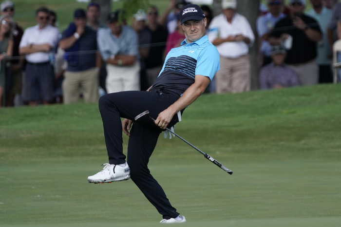 Spieth was brilliant on the greens.