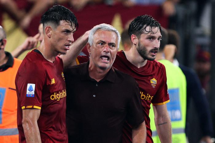 Jose Mourinho, AS Roma, celebration