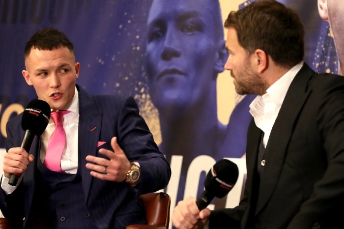 Josh Warrington wants to unify the featherweight division against Can Xu later this year and can with victory next month