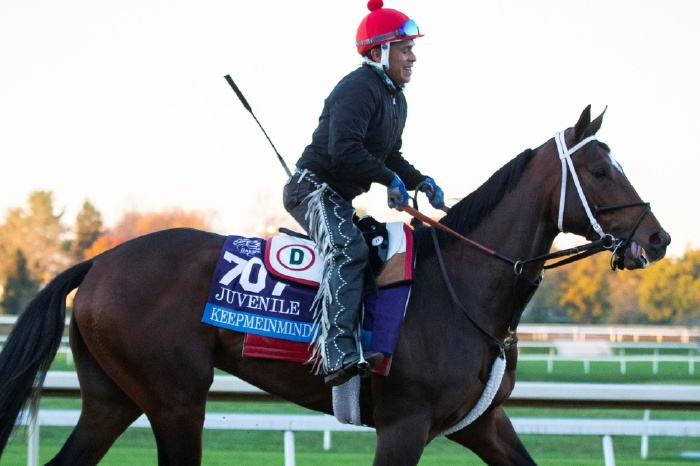 Keepmeinmind will feature in the Preakness Stakes on Saturday.