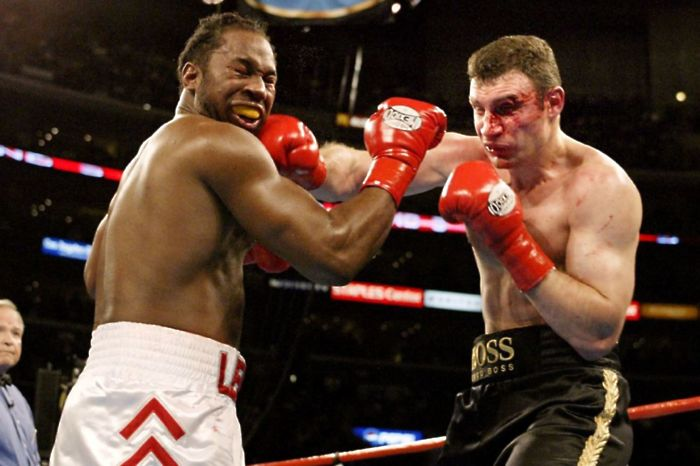 Here is a look back on the 'Battle of the Titans' clash between Lennox Lewis and Vitali Klitschko