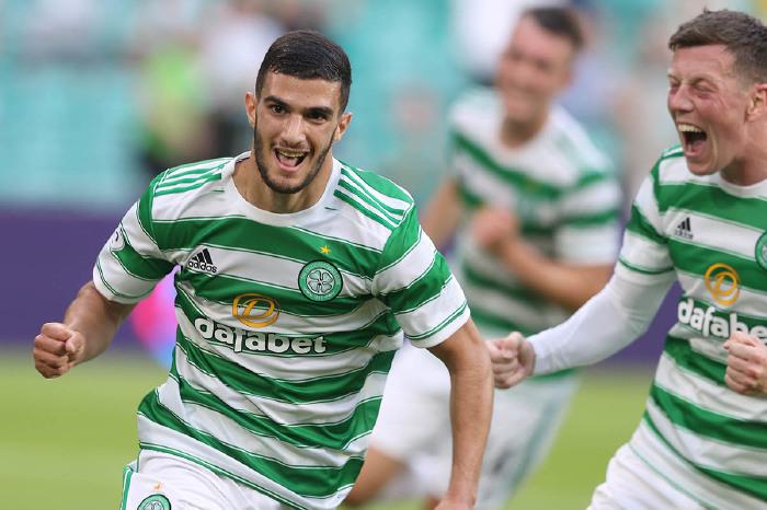 Liel Abada celebrates for Celtic