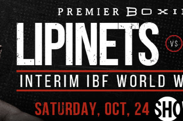 Sergey Lipinets faces the unbeaten Custio Clayton live on Showtime on Saturday October 24