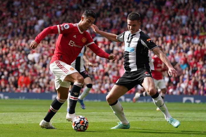 Ronaldo aginst Newcastle United