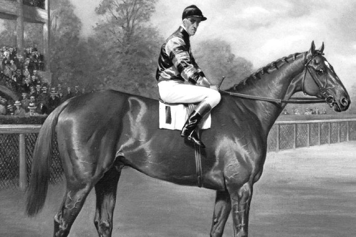 Man o' War won the 1920 Preakness Stakes and Belmont Stakes