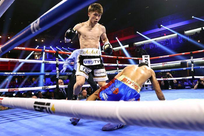 Naoya Inoue knocked out IBF No. 1 contender Michael Dasmarinas in the third round