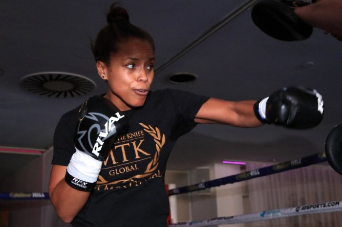 Natasha Jonas has pledged to offer free meals and free boxing lessons to struggling families in Liverpool