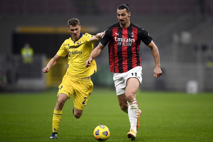 Zlatan was on target in the reverse fixture against Verona