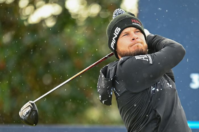 Tyrrell Hatton contending at the Dunhill Links Championship