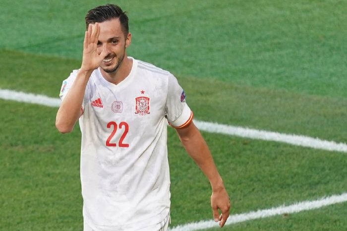 Pablo Sarabia scored the equaliser for Spain in the 38th minute