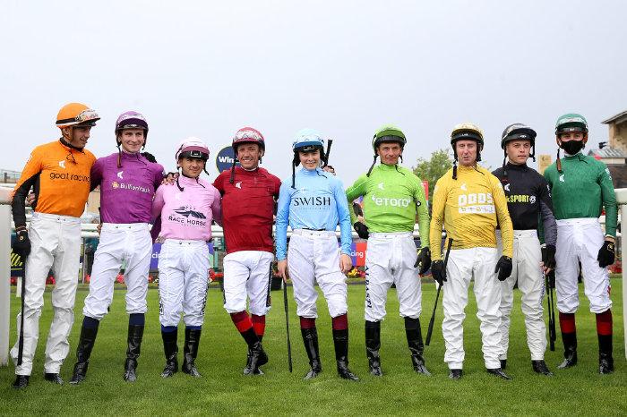 Racing League jockeys at Doncaster