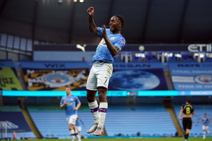 With eight goals to his name against Arsenal, Sterling could add another this weekend
