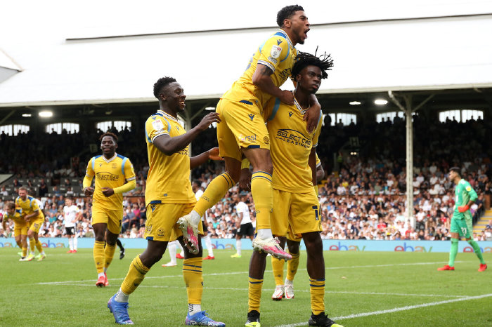 Ovie Ejaria celebrates after scoring against Reading