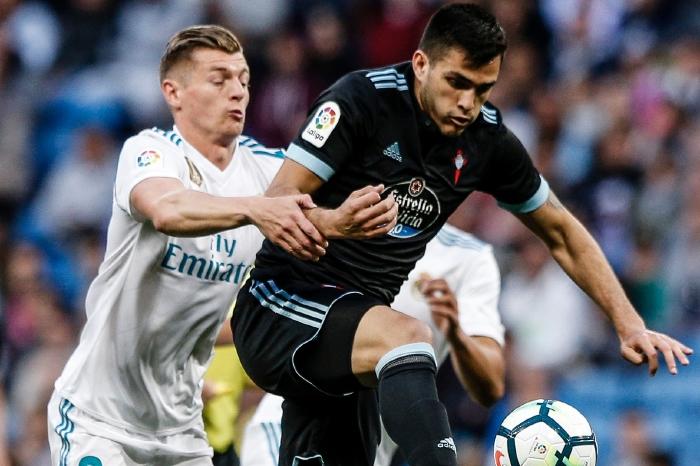 Toni Kroos battles with Celta Vigo