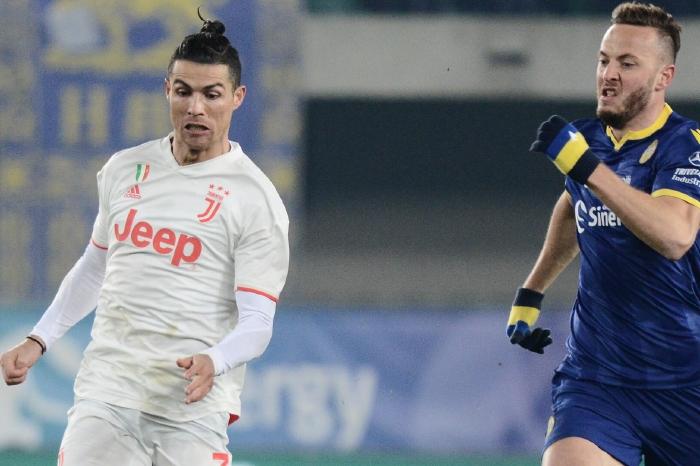 Cristiano Ronaldo celebrates against Verona