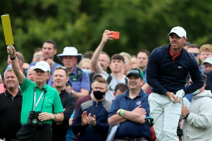 Rory in action on day two