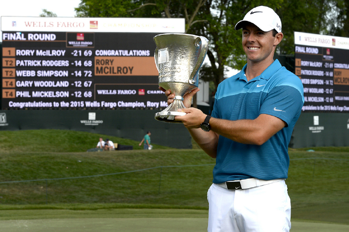 McIlroy lifted the trophy for a second time in 2015.